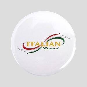 """ITALIAN PROUD 3.5"""" Button"""