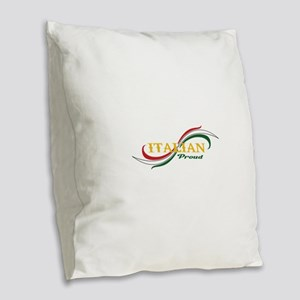 ITALIAN PROUD Burlap Throw Pillow