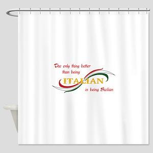 SICILIAN ITALIAN Shower Curtain