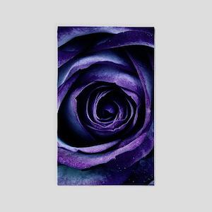 Purple Blue Rose Bloom Area Rug