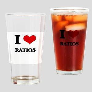 I Love Ratios Drinking Glass