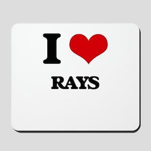 I Love Rays Mousepad