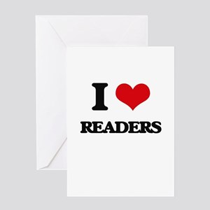 I Love Readers Greeting Cards