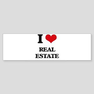 I Love Real Estate Bumper Sticker