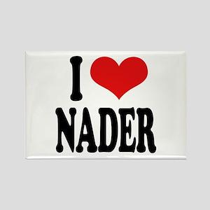 I Love Nader Rectangle Magnet