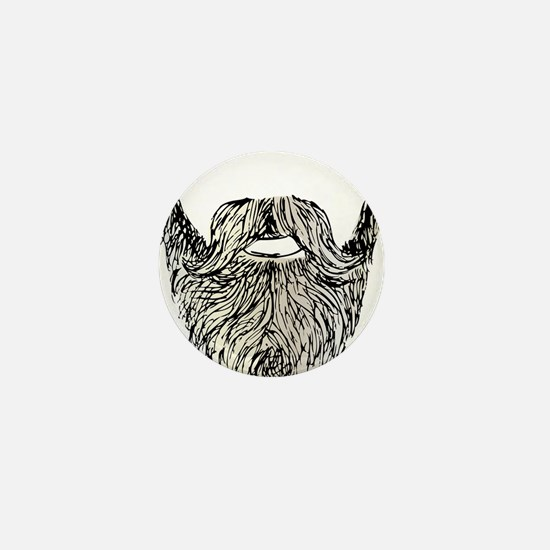 beard Mini Button (10 pack)