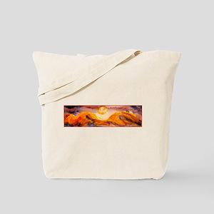 Landscape, sunset, art Tote Bag