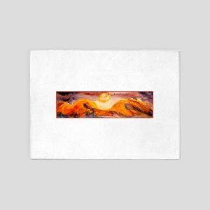 Landscape, sunset, art 5'x7'Area Rug