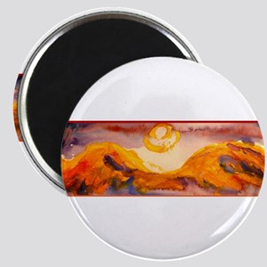 Landscape, sunset, art Magnets