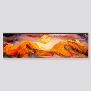 Landscape, sunset, art Bumper Sticker