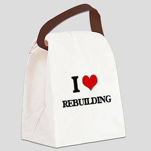 I Love Rebuilding Canvas Lunch Bag