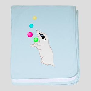 Badger Juggling baby blanket