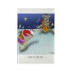 Christmas Cartoon 9243 Rectangle Magnet