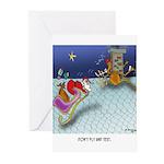 Christmas Cartoon 9243 Greeting Cards (Pk of 20)