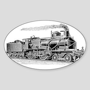 VINTAGE TRAINS Oval Sticker