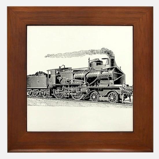 VINTAGE TRAINS Framed Tile
