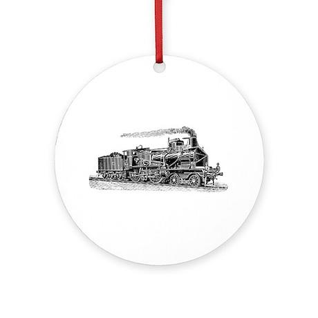 VINTAGE TRAINS Ornament (Round)