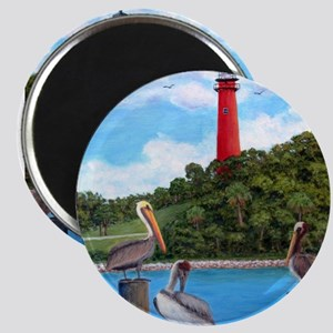 Jupiter Inlet Pelicans Magnets