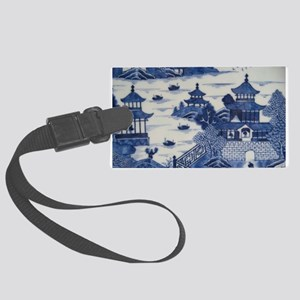PORCELAIN CHINA ANTIQUE Large Luggage Tag
