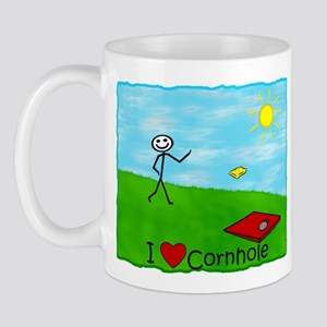 Stick Player I Heart Cornhole Mug