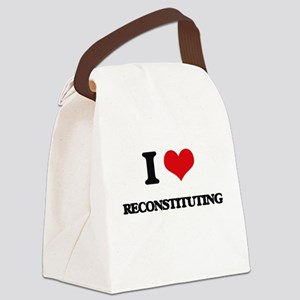 I Love Reconstituting Canvas Lunch Bag