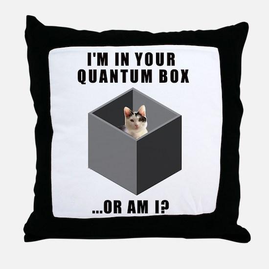 Quantum Cat Throw Pillow