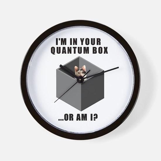 Quantum Cat Wall Clock
