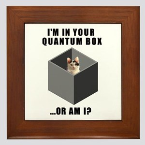 Quantum Cat Framed Tile