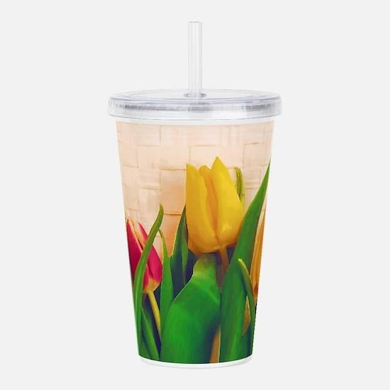 Tulip Spring Acrylic Double-wall Tumbler