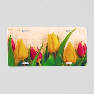 Tulip Spring Aluminum License Plate