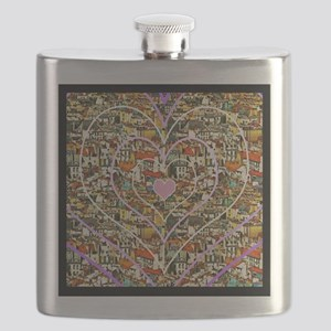 Parisienne Hearts Flask