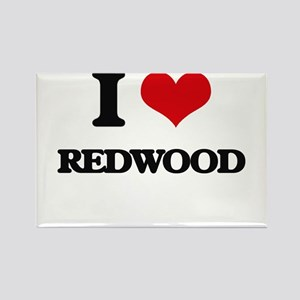 I Love Redwood Magnets