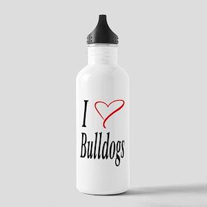 I Love Bulldogs Stainless Water Bottle 1.0L