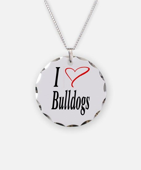 I Love Bulldogs Necklace