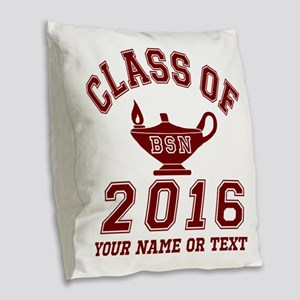 Class Of 2016 BSN Burlap Throw Pillow