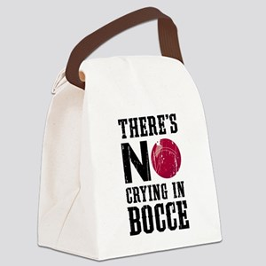 No Crying In Bocce Canvas Lunch Bag