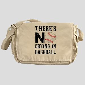 No Crying In Baseball Messenger Bag
