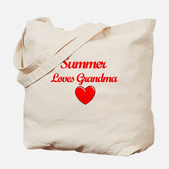 Summer Loves Grandma Tote Bag