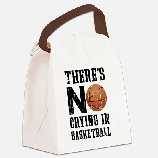 No Crying In Basketball Canvas Lunch Bag