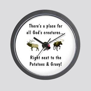 All God's Creatures Wall Clock