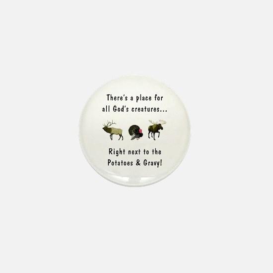 All God's Creatures Mini Button