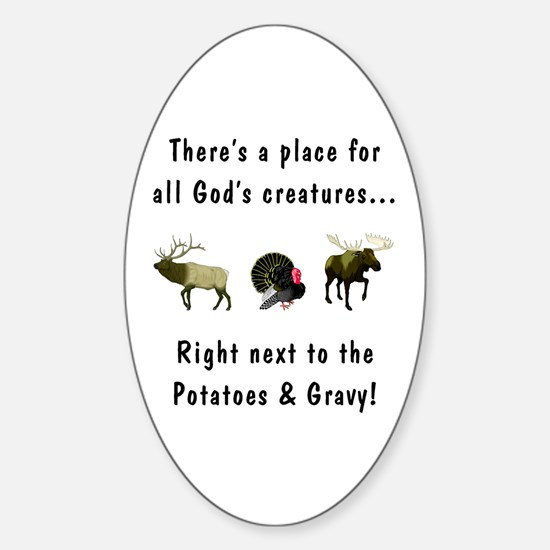 All God's Creatures Sticker (Oval)