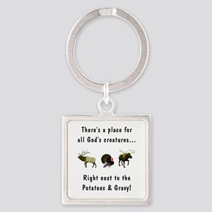 All God's Creatures Square Keychain