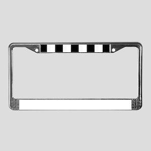 Black and White Stripes Stripe License Plate Frame