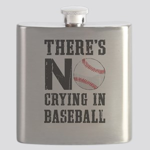 No Crying In Baseball Flask