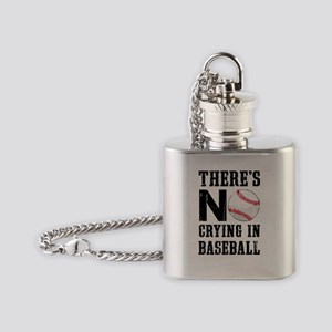 No Crying In Baseball Flask Necklace