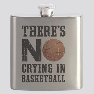 No Crying In Basketball Flask