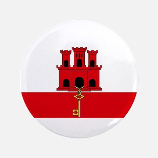 """Gibraltar Nal flag 3.5"""" Button"""