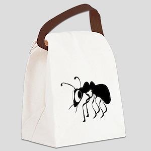 Cartoon Ant Canvas Lunch Bag