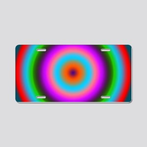 Bulls-eye multicolored by d Aluminum License Plate